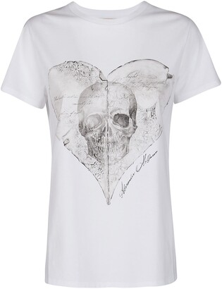 Alexander McQueen Skull Print Crewneck T-Shirt