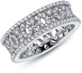 Lafonn Micro Pave Simulated Diamond Sterling Silver Antique Band Ring
