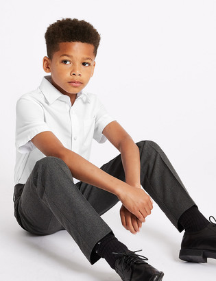 Marks and Spencer 2 Pack Boys' Regular Fit Pure Cotton Shirts