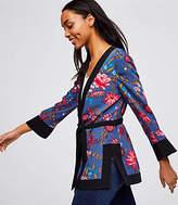 LOFT Petite Wildflower Kimono Jacket