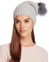Inverni Slouchy Beanie with Coyote Fur Pom-Pom