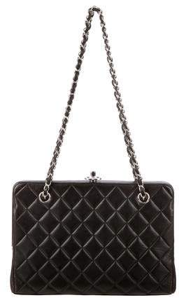 Chanel Quilted Lambskin Frame Bag