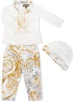 Roberto Cavalli logo print trouser set