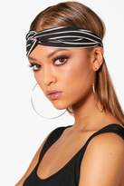 boohoo Lily Stripe Twist Knot Headband