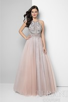 Terani Prom - Sequin Embellished Halter Prom Dress 1611P1238A
