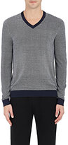 Michael Kors MEN'S BIRDSEYE-KNIT SILK-COTTON V-NECK SWEATER