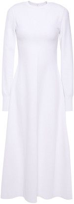 CASASOLA Flared Stretch-knit Midi Dress