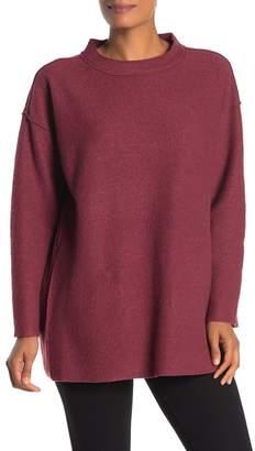 Eileen Fisher Merino Wool Pocketed Tunic Sweater