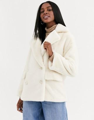 Free People kate faux fur teddy coat