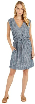 Splendid Waverly Dress (Navy/Teal Stripe) Women's Clothing