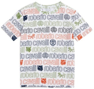 Roberto Cavalli Junior Rainbow Logo T-Shirt