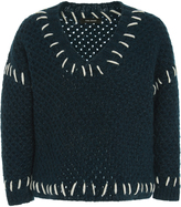 Isabel Marant Goldy Contrast Stitch Jumper