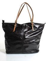 Latico Leathers Dark Brown Leathe Skinny Double Straps Large Tote Handbag