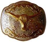 JK Trading Men's Western Bull Belt Buckle