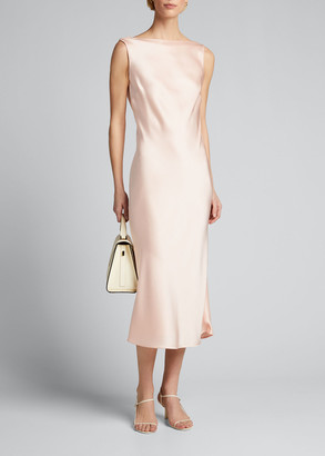 Jason Wu Collection Crepe Back Satin Boat-Neck Cocktail Dress