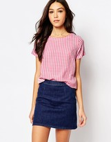 Jack Wills Gingham Print Top