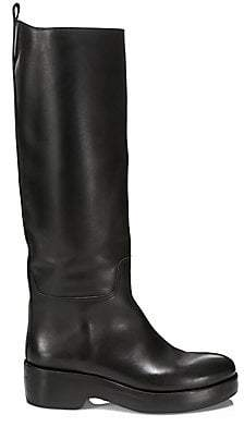 The Row Women's Motorbike Tall Leather Boots