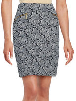 MICHAEL Michael Kors Paisley Knit Pencil Skirt