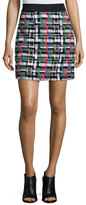 Milly Couture Tweed Zip-Back Skirt