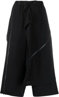 Yohji Yamamoto Layered Cropped Trousers