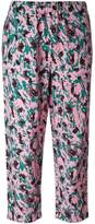 Marni abstract printed cropped trousers