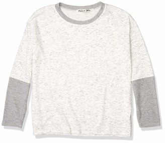 Michael Stars Women's Madison Brushed Jersey Colorblock Pullover