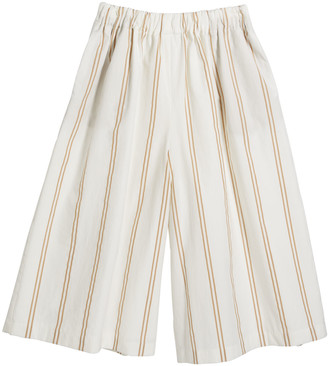 Brunello Cucinelli Girl's Striped Pull-On Pants, Size 12-14