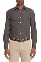 Canali Men's Trim Fit Micro Print Sport Shirt