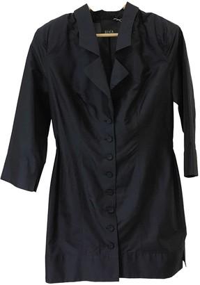 BEVZA Navy Silk Jacket for Women