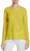 Eileen Fisher Organic Linen Boat Neck Sweater
