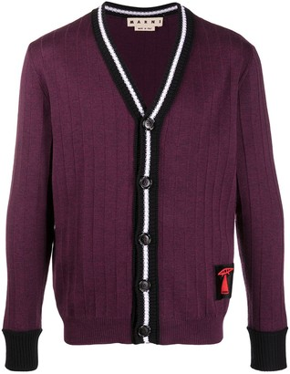 Marni Embroidered Patch Cardigan