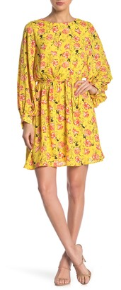 Halogen Garden Party Long Sleeve Minidress (Regular & Petite)