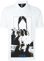 Hood by Air picture print polo shirt