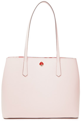 Kate Spade Molly Hearts Party Large Pebbled-leather Tote