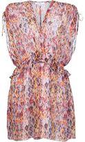 IRO floral print ruffle waist dress