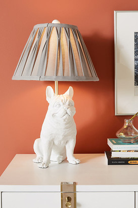 Anthropologie Frank the Frenchie Table Lamp By in White Size M