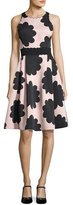 Kate Spade Sleeveless Petal Stamp Fit-And-Flare Dress, Natural