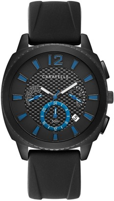 Caravelle by Bulova Men's Black Silicone Strap Watch