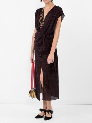 Magda Butrym diablo black polka-dot dress