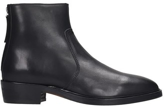 Hunter Royal Republiq High Heels Ankle Boots In Black Leather