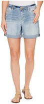 Jag Jeans Alex Boyfriend Shorts Platinum Denim in Cool Blue w/ Destruction Women's Shorts