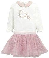Mamas and Papas Baby-Girls 2 Pack Bodysuit & Tutu Set Animal Print Long Sleeve Set of 2 Clothing Set