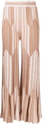D-Exterior Lurex Knit Trousers
