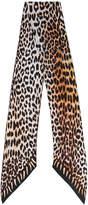 Rockins Leopards Teeth classic skinny silk scarf