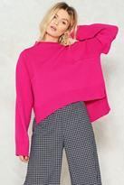 Nasty Gal nastygal Work the Room Oversized Sweater