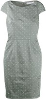 Christian Dior Pre Owned polka dots fitted dress