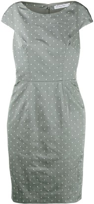 Christian Dior Pre-Owned Polka Dots Fitted Dress