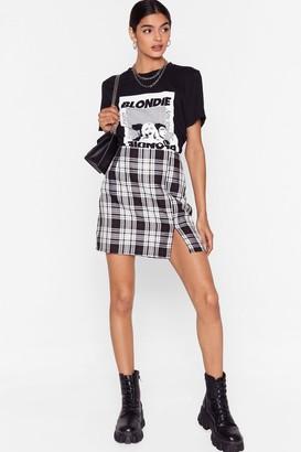 Nasty Gal Womens What Grid You Do Petite Check Mini Skirt - White