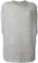 Brunello Cucinelli short-sleeve sequin jumper - women - Silk/Linen/Flax/Polyamide - M