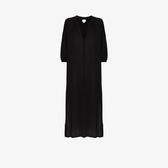 HONORINE Bianca V-neck cotton midi dress